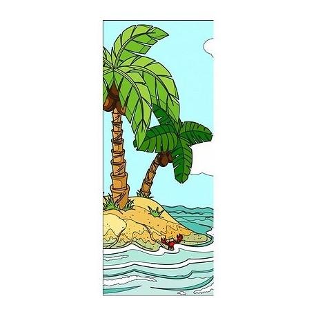 papier peint porte enfant palmiers 720 stickers muraux enfant. Black Bedroom Furniture Sets. Home Design Ideas