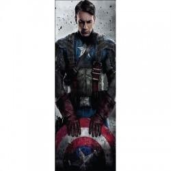 Papier peint porte enfant Capitaine America 718
