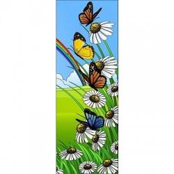 Papier peint porte enfant Papillons 710
