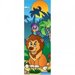 Papier peint porte enfant Lion 706