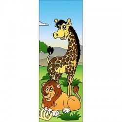Papier peint porte enfant Jungle 705