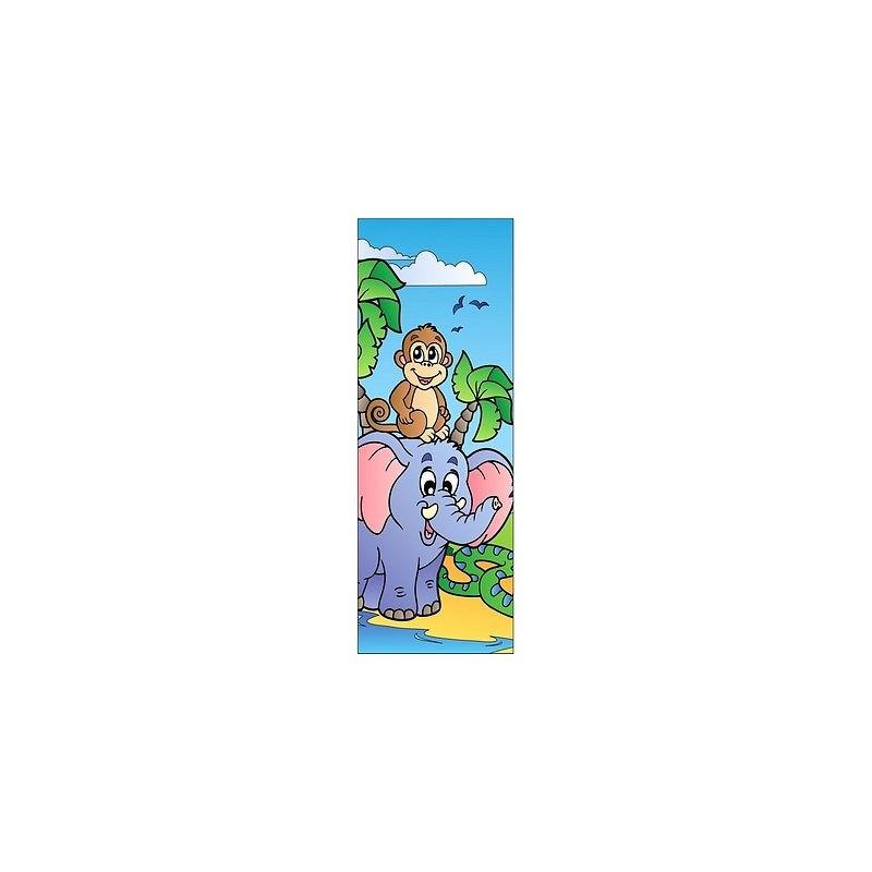 papier peint porte enfant animaux 704 stickers muraux enfant. Black Bedroom Furniture Sets. Home Design Ideas