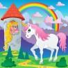 Papier peint enfant géant Licorne Princesse 3685