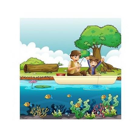 papier peint enfant g ant pecheurs 3680 stickers muraux. Black Bedroom Furniture Sets. Home Design Ideas