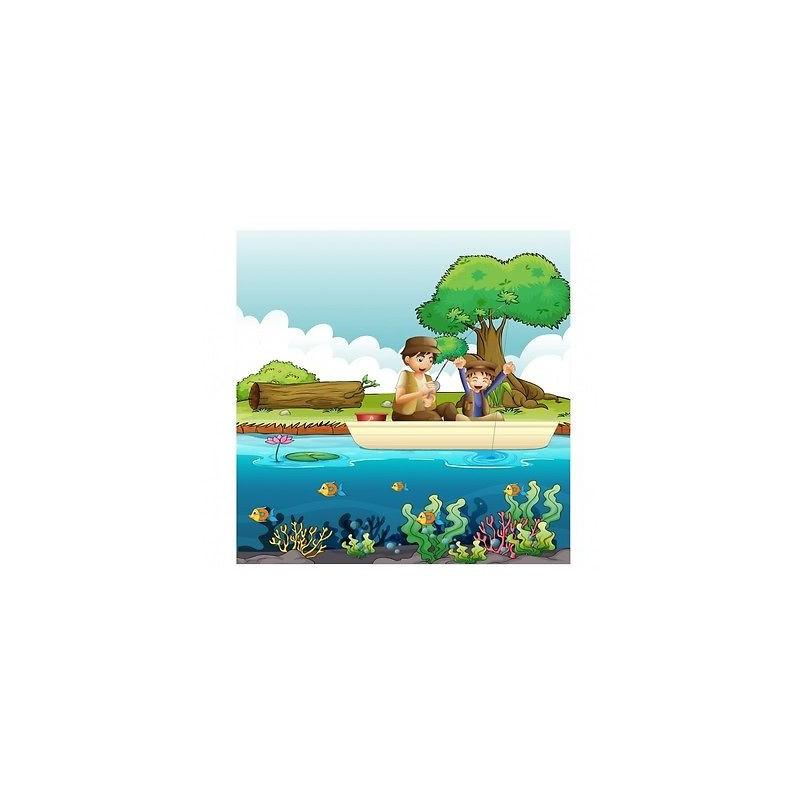 papier peint enfant g ant pecheurs 3680 stickers muraux enfant. Black Bedroom Furniture Sets. Home Design Ideas