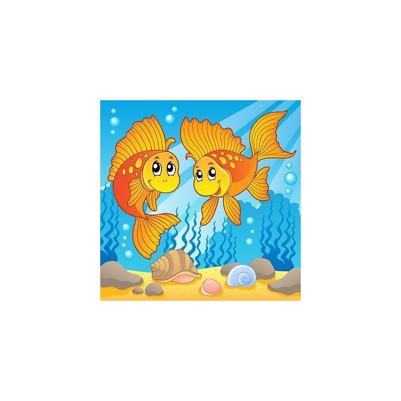 papier peint enfant g ant poissons 3678 stickers muraux enfant. Black Bedroom Furniture Sets. Home Design Ideas