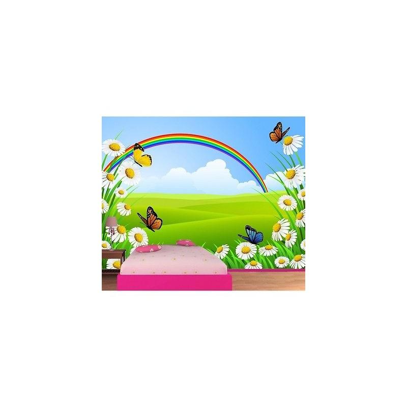 papier peint enfant g ant papillons fleurs 612 stickers. Black Bedroom Furniture Sets. Home Design Ideas