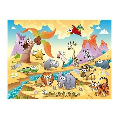 papier peint enfant g ant animaux 617 stickers muraux enfant. Black Bedroom Furniture Sets. Home Design Ideas