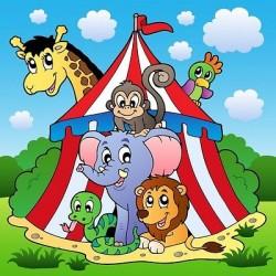 Papier peint enfant géant Animaux cirque 2004