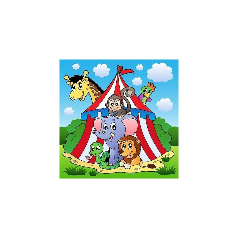 papier peint enfant g ant animaux cirque 2004 stickers muraux enfant. Black Bedroom Furniture Sets. Home Design Ideas