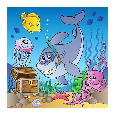 papier peint enfant g ant dauphin 2005 stickers muraux enfant. Black Bedroom Furniture Sets. Home Design Ideas