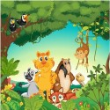 Papier peint enfant géant animaux 2002