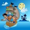 Papier peint enfant géant Pirates bateau 2009