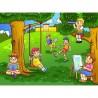 Papier peint enfant géant Enfants parc 2013