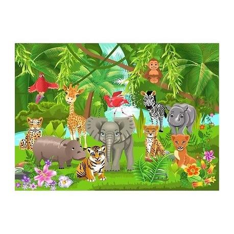 papier peint enfant g ant animaux savane 2014 stickers muraux enfant. Black Bedroom Furniture Sets. Home Design Ideas