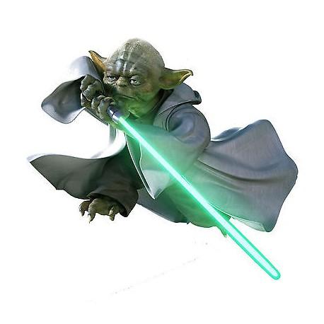Stickers enfant Yoda Stars Wars (de 10cm à 130cm de largeur)