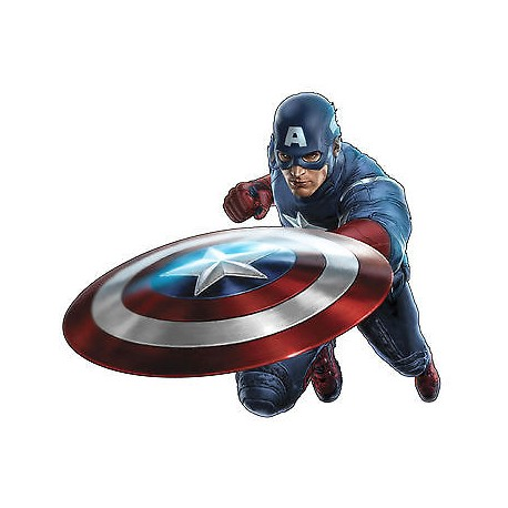 Stickers enfant Capitain América Avengers réf 4121 (de 10cm à 130cm de largeur)