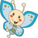 Sticker enfant Papillon bleu réf 3504