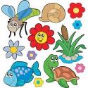 Stickers kit enfant planche de stickers Animaux réf 3686