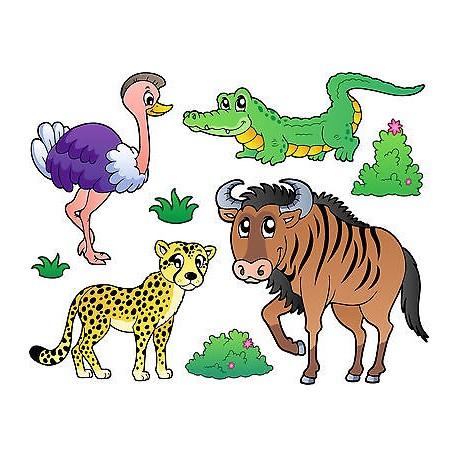 Stickers kit enfant planche de stickers Animaux ref 3688 (7 dimensions)