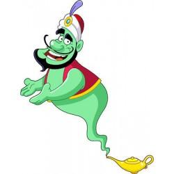 Sticker autocollant enfant Aladin lampe magique réf 3629