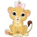 Sticker autocollant enfant lionceau réf 3625