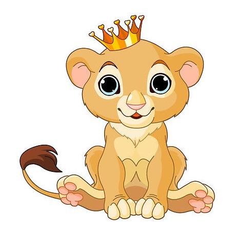 Sticker autocollant enfant Roi lionceau réf 3624