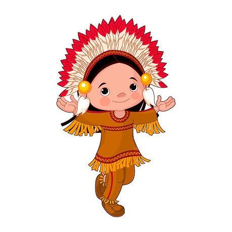 Stickers autocollant muraux enfant Indien réf 3622 (30 dimensions)