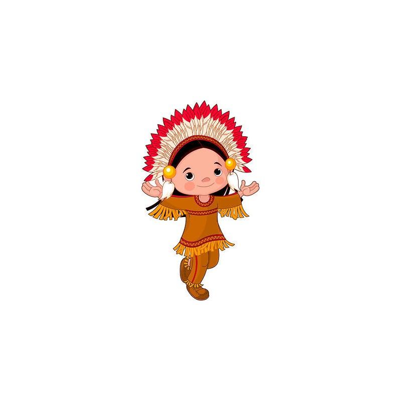 Stickers autocollant muraux enfant indien r f 3622 30 for Autocollant muraux
