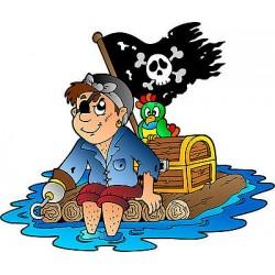 Stickers enfant Pirate réf 3693 (Dimensions de 10cm à 130cm de largeur)