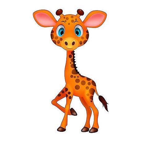 Stickers autocollant muraux enfant Girafe réf 3726 (30 dimensions)