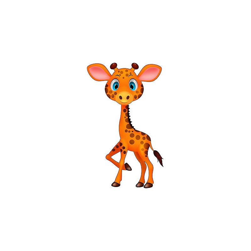 Stickers autocollant muraux enfant girafe r f 3726 30 for Autocollant muraux