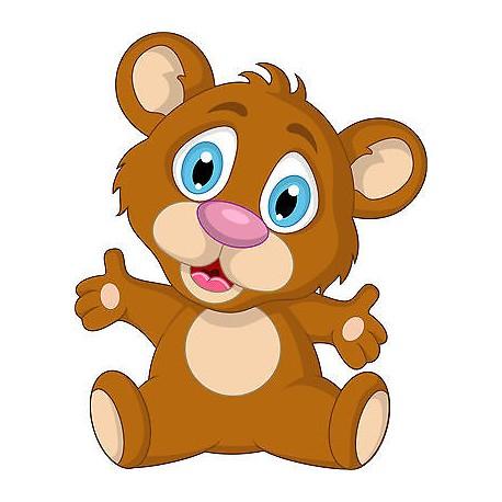 Sticker enfant Ourson réf 3721 (de 10 cm à 130cm de hauteur)