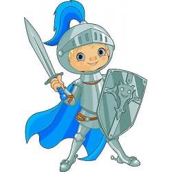 Sticker autocollant enfant Chevalier épée réf 3610