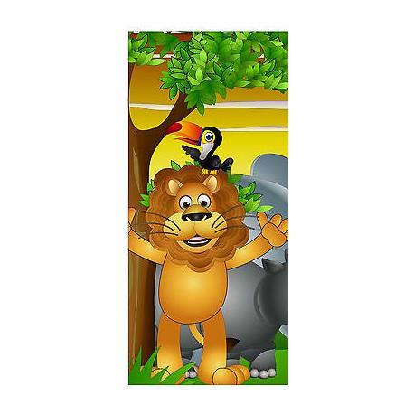 Sticker enfant porte Animaux Lion réf 1722