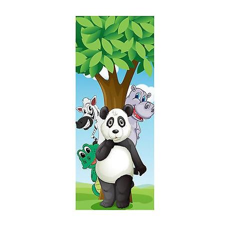 Sticker enfant porte Animaux Panda réf 1724