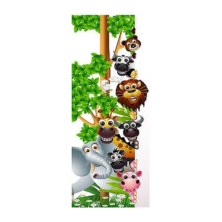 sticker enfant porte animaux de la jungle r f 1734 stickers muraux enfant. Black Bedroom Furniture Sets. Home Design Ideas