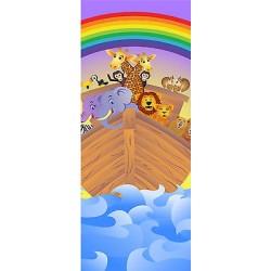 Sticker enfant porte Arche de noé réf 1736
