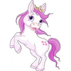 Sticker autocollant enfant Princesse cheval réf 3608