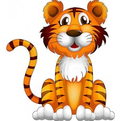 Sticker autocollant enfant Tigre réf 3601