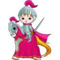 Stickers autocollant muraux enfant Chevalier à cheval réf 3605 (30 dimensions)