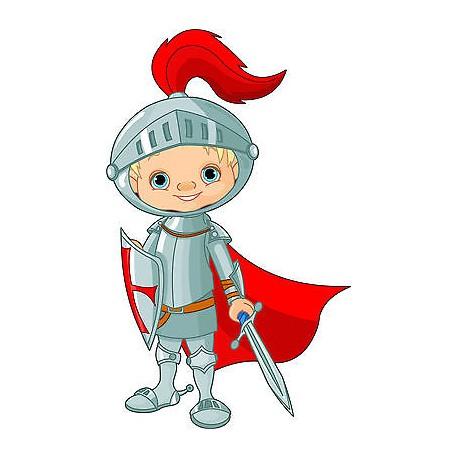 Stickers autocollant muraux enfant Chevalier réf 3604 (30 dimensions)