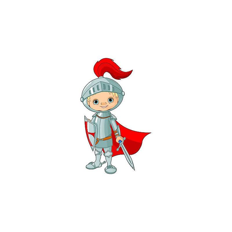 Stickers autocollant muraux enfant chevalier r f 3604 30 for Autocollant muraux