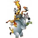 Stickers autocollant muraux enfant Animaux jungle réf 3602 (30 dimensions)