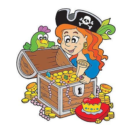 Sticker autocollant enfant trésor pirate réf 3593