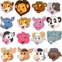Stickers kit enfant planche de stickers Têtes animaux réf 3595