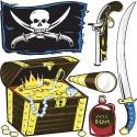 Stickers kit enfant planche de stickers Pirates réf 3588 (12 dimensions)