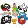 Stickers kit enfant planche de stickers Pirates ref 3590 (7 dimensions)