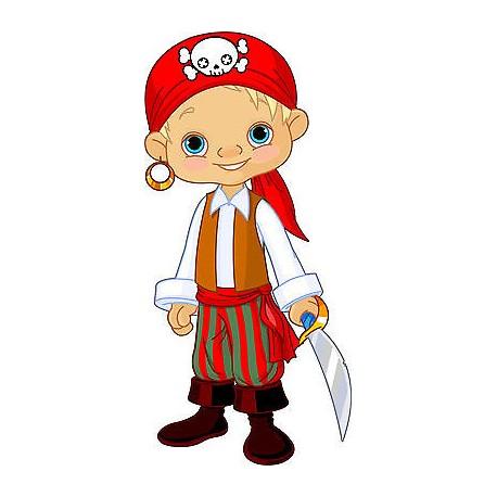 Stickers muraux enfant jeune pirate réf 3580 (30 dimensions)