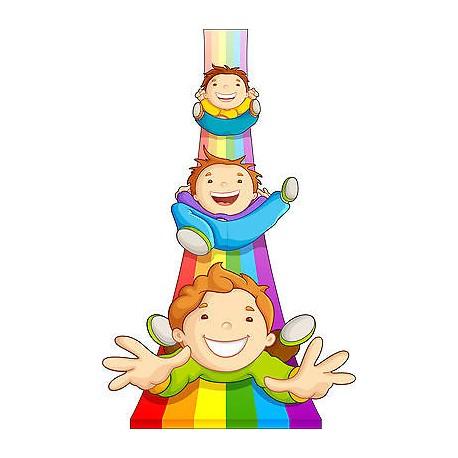 Stickers muraux enfant Tobogan réf 3577 (30 dimensions)